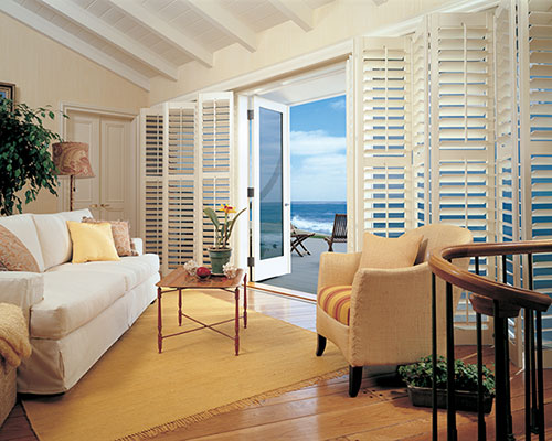 Heritance® Hardwood Shutters for Living Rooms Sliding Door Windows Near Westlake Village & Agoura, California (CA)