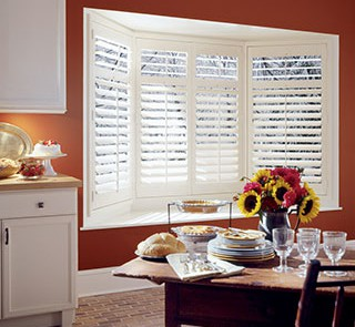 Heritance® Hardwood Shutters for Dining Room Windows in Homes Near Westlake Village & Agoura, California (CA)