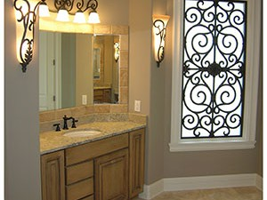Faux Iron Wall Art and Grilles in Homes Near Westlake Village & Malibu, California (CA)