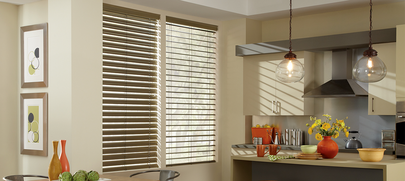 Custom Horizontal Blinds for Kitchen Windows Near Westlake Village, Malibu & Agoura Hills, California (CA)