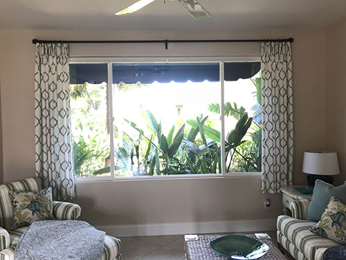 Custom Drapes & Window Coverings for Living Rooms Near Westlake Village, Malibu & Calabasas, California (CA)
