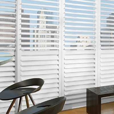 NewStyle Hybrid Shutters for Living Room Windows in Homes Near Westlake Village, Thousand Oaks, California (CA)